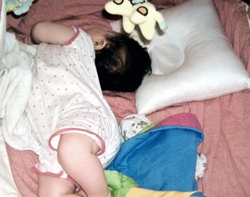 Babydrom- Kissen und seine Benutzerin