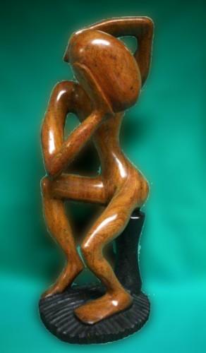 Hans Härtling hat diese Figur aus dem Senegal mitgebracht